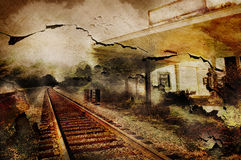 Railroad station Royalty Free Stock Photography