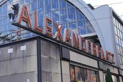 Railroad station Alexanderplatz in Berlin Royalty Free Stock Photos