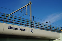 Railroad station Almere Poort - The Netherlands Royalty Free Stock Photo