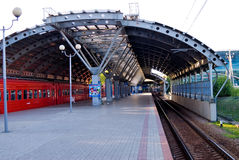 Railroad station in Domodedovo airport Royalty Free Stock Photos
