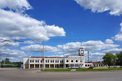 Railroad station in a Kostroma stock images