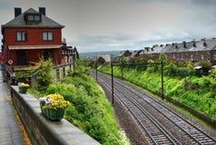 Railroad station, Namur, Belgium Royalty Free Stock Photos