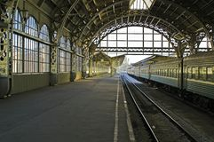 Railroad station platform Royalty Free Stock Photo
