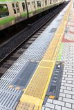 Railroad Station Platform Royalty Free Stock Images