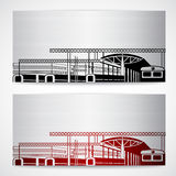 Railroad station with red Royalty Free Stock Photos