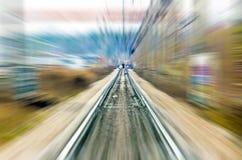 Railroad station speed rail trip Stock Photos