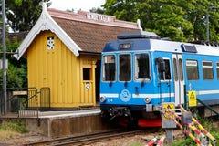Railroad station Vendevagen royalty free stock photography