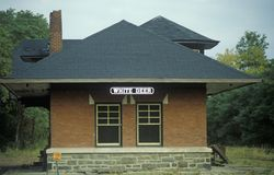 A railroad station in White Deer, Pennsylvania Royalty Free Stock Photo