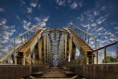 Railroad steel bridge. Leading to heaven Stock Image