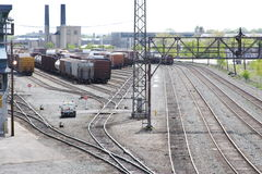 Railroad Stock Yard Royalty Free Stock Image