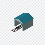 Railroad Stop Isometric. Depot Vector Element Can Be Used For Railway, Stop, Depot Design Concept. Depot Vector Element Can Be Used For Railway, Stop, Depot Stock Images