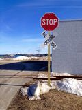 Railroad stop sign Stock Photography