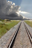 Railroad with Storm Clouds 1 Stock Photography
