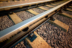 Railroad straight track. Royalty Free Stock Photos
