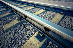 Railroad straight track. Stock Photography