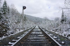 Railroad stretching into the distance Stock Photography