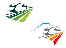 Railroad and subway symbols Stock Image