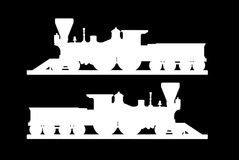 Railroad and subway symbols Royalty Free Stock Photo
