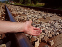 RAILROAD: suicide Royalty Free Stock Photography