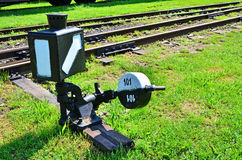 Railroad switch Stock Photography