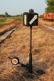 Railroad switch Stock Image