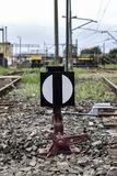 The Railroad switch. Royalty Free Stock Photos