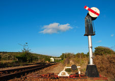 Railroad switch near Klein Brak Royalty Free Stock Images