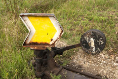 Railroad switch point indicator Royalty Free Stock Photos
