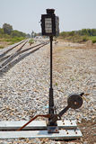 Railroad switch or points Royalty Free Stock Images