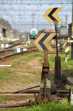 Railroad switch Stock Photos