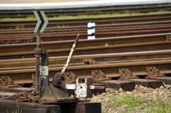 Railroad switch Royalty Free Stock Photo