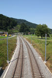 Railroad in Switzerland Royalty Free Stock Image