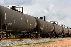 Railroad Tank Cars Stock Photo