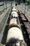 Railroad tank cars Royalty Free Stock Photos
