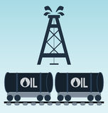 Railroad tank icon Royalty Free Stock Photography