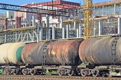 Railroad tank wagon Stock Images