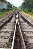 Railroad in Thailand Stock Photo