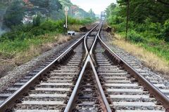 Railroad in Thailand Royalty Free Stock Photography