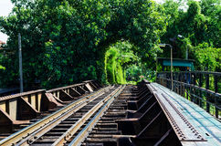 Railroad in Thailand. Stock Photography