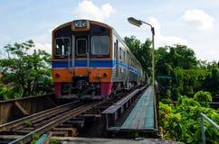 Railroad in Thailand. train Stock Image