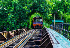 Railroad in Thailand. train Stock Photos