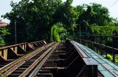 Railroad in Thailand. Stock Photos