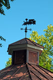 Railroad themed weathervane. Image of a railroad themed weathervane Stock Image