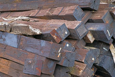 Railroad ties Stock Image
