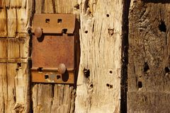 Railroad ties with iron. Royalty Free Stock Photos