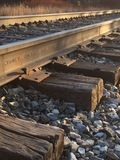 Railroad ties Norwich university Royalty Free Stock Images