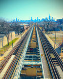 Railroad to Chicago Royalty Free Stock Photography