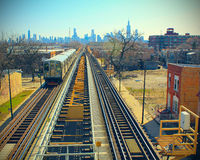 Railroad to Chicago Stock Photography