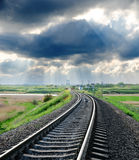 Railroad to horizon Royalty Free Stock Image