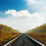 Railroad to horizon Stock Image
